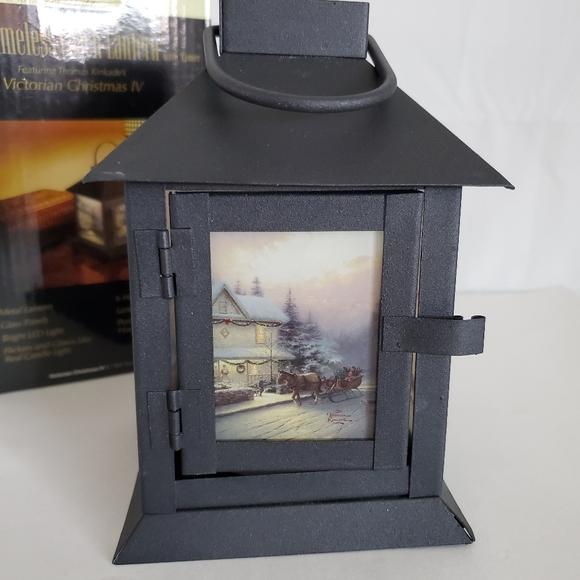 Thomas Kinkade Victorian Xmas Lantern